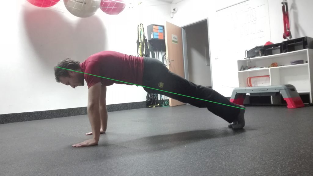 Hollow hold push up
